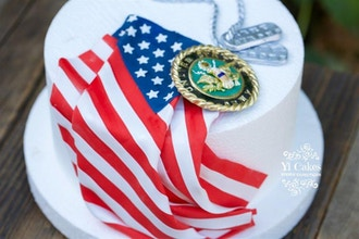 US Army Themed 3D Cake Topper