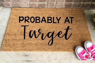 DIY Home Decor: Stenciled Welcome Mats