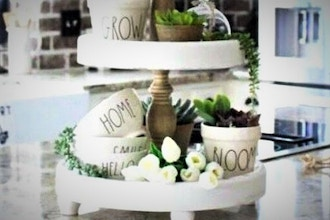 DIY Home Decor: Tiered Accent Stands