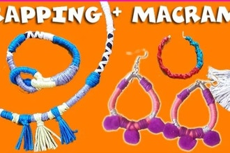 Level 2 After-School Jewelry Design: Macrame (Ages 10+)
