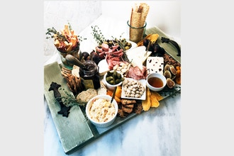 Charcuterie Arranging and DIY Wood Tray
