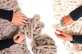 Chunky Knit Blanket & Wine Workshop