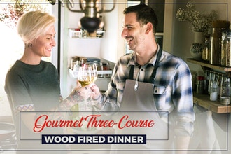 Couple Class: Gourmet Three Course Wood Fired Dinner