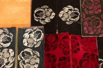 Block printing & Sewing - Zipper Pouches