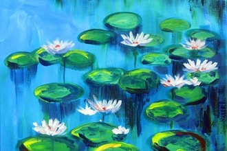 Painting & Brews - Water Lilies