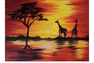 Painting, Pints and Pizza - African Safari Sunset