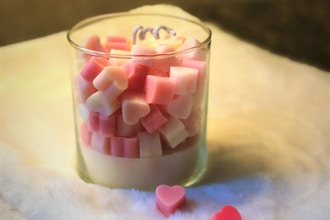 Mini Heart Soy Candle Making
