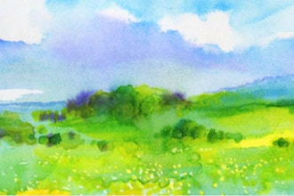 Virtual Landscape Watercolor
