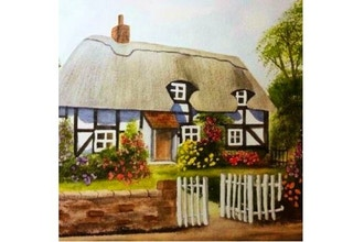 Virtual Watercolor Landscapes: Shakespeare's Cottage