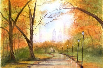 Virtual Watercolor Central Park the Easy Way