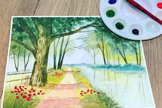 Virtual Watercolor Landscapes the Easy Way