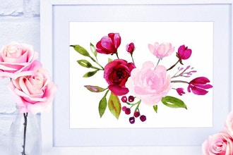 Virtual Watercolor Florals for the Absolute Beginner