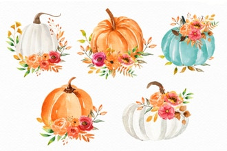 Virtual Watercolor Florals for Beginners - Fall Themed