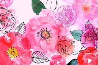 Watercolor Floral Abstracts & Doodles:Absolute Beginner