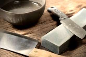 Kitchen Knife Sharpening with Japanese Waterstone