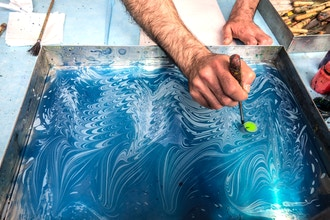 Silk Water Marbling Workshop