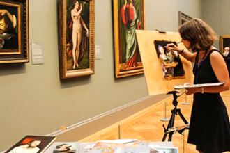 Master Copying Class at the Metropolitan Museum of Art