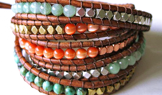 Leather Wrap Bracelet Bracelet Making Classes Los Angeles