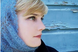 The Ice Queen: A Beaded Mohair Cowl