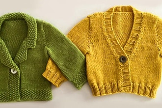 Knit a Top-Down Baby Sweater