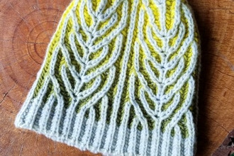 Two-Color Brioche Part 2: Fern Cap - Knitting Classes Los Angeles