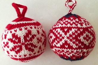 Knitted Colorwork Ornaments