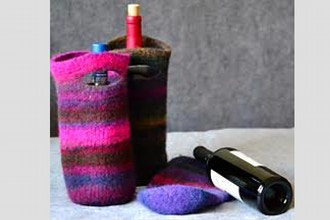Felted Wine Carrier