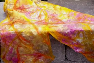 Nuno/Laminated Felted Silk Satin Scarf (Berwyn)