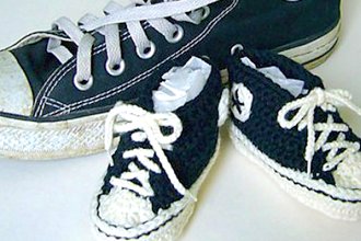 Knit Or Crochet Baby Converse Sneakers Knitting Classes Chicago