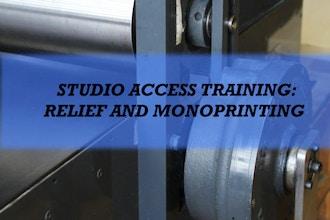 Studio Access Training: Relief & Monoprinting