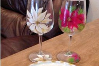 One-Stroke Painting: Holiday Gifts on Glass