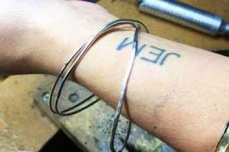 Bracelet: Brass Cuff + Bangles