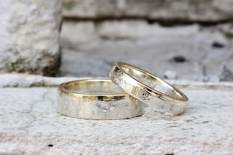 Single 4 Hours Silver Wedding Bands (Private)