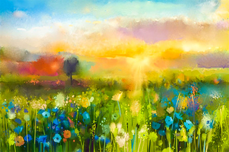 Painting Vibrant Flora & Landscapes in Oils