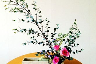 Zen and Ikebana Floral Arrangement