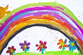 Colors of the Rainbow: Mixed Media (Ages 5-8)