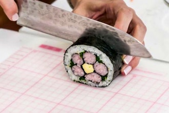Unique Sushi Roll: Skinny Roll, Flower and Inside out