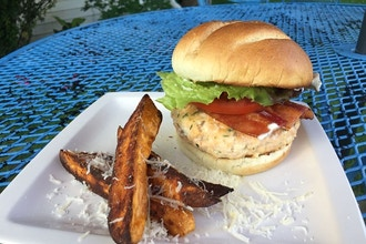 Virtual Family Night Cook Along: BLT Salmon Burgers
