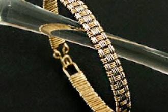 Basketweave Bangle Bracelet Wire Weaving