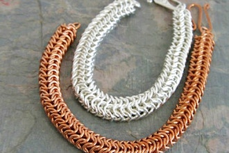 Turkish Round Chain Maille Bracelet Weaving
