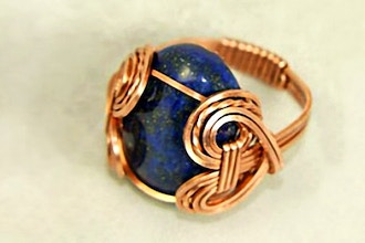 Wire Wrapped Cabochon Ring