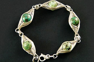 Herringbone Weave Wire Wrapped Bracelet