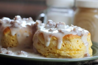 Brunch Classics: Biscuits and Sausage Gravy
