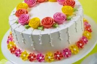 Flower Cake Making