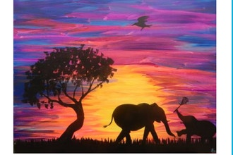 BYOB Painting: Elephants (Virtual)