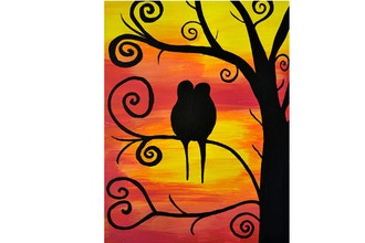 BYOB Painting: Lovebirds (Virtual)
