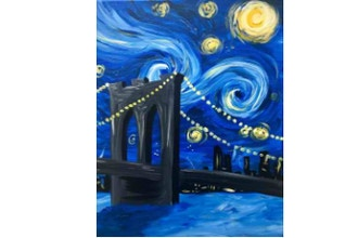 Byob Painting Starry Night Over Brooklyn Uws Byob