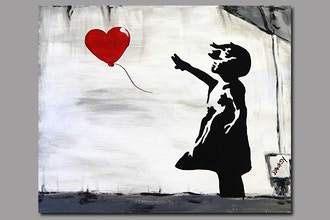 BYOB Painting: Banksy Girl with Balloon (UWS)
