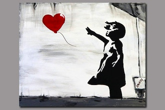 BYOB Painting: Banksy Girl with Balloon