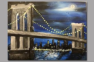 Byob Painting Brooklyn Bridge Uws Byob Painting Classes New York Coursehorse The Paint Place